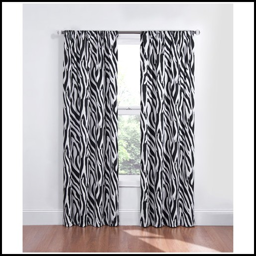 Black And White Zebra Curtains For Bedroom