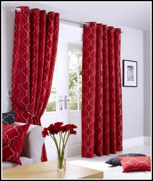 Black White And Red Curtains