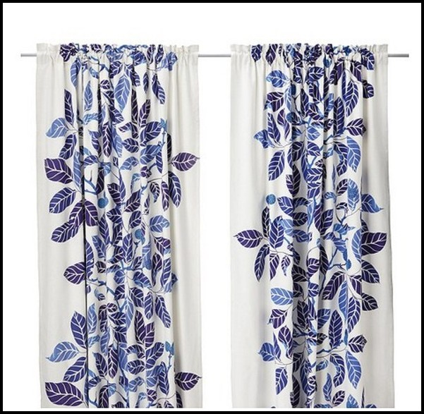 Blue And White Curtains Ikea Curtains Home Design