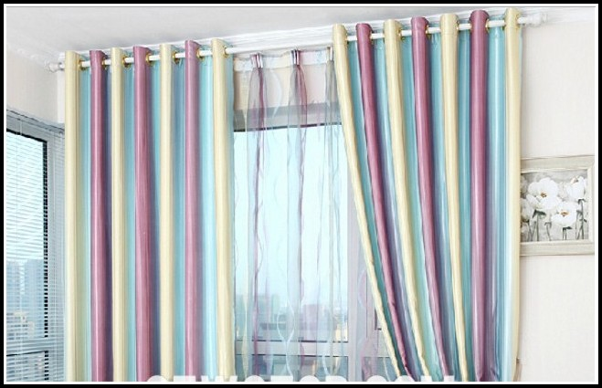 Blue Green And Yellow Curtains