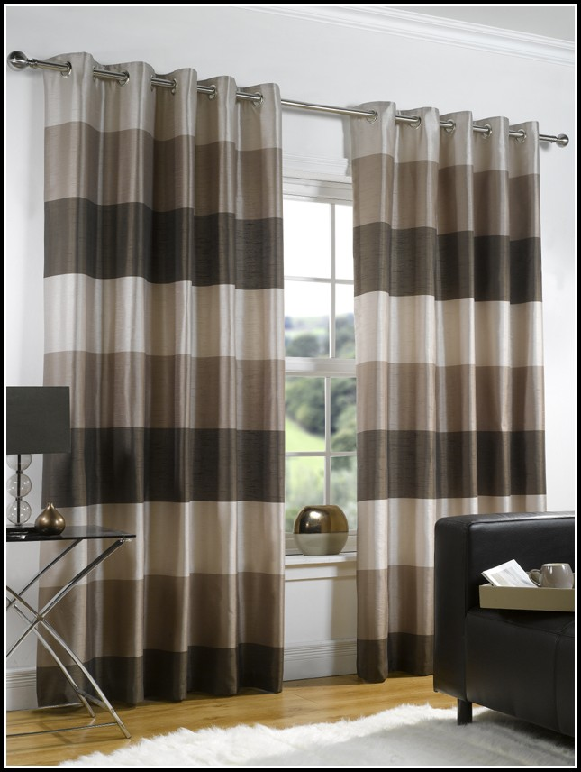 Brown And Black Striped Curtains Curtains Home Design
