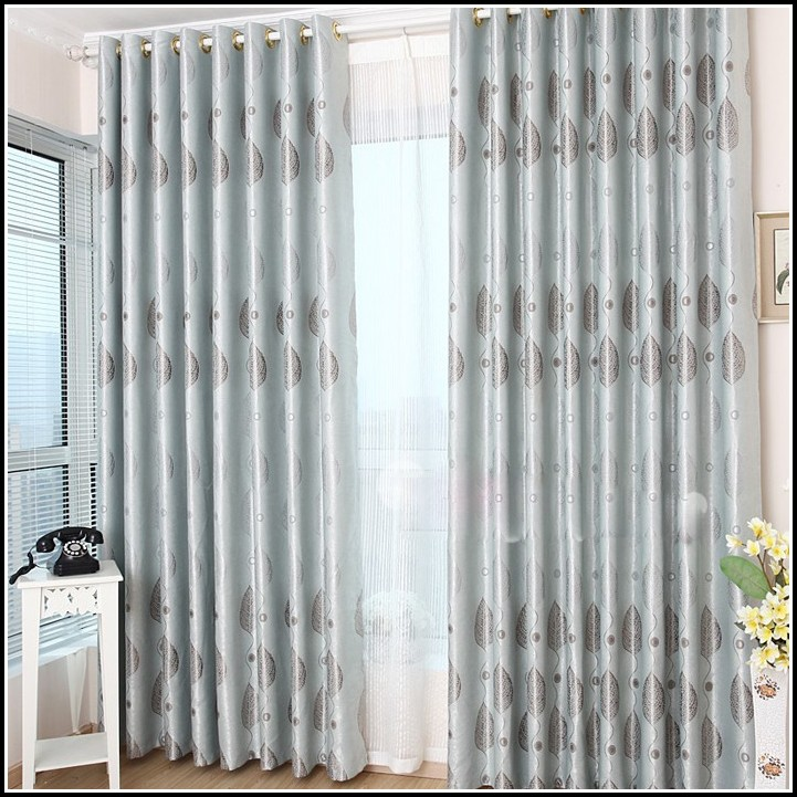 Brown and blue kitchen curtains curtains home design for Blue and brown kitchen