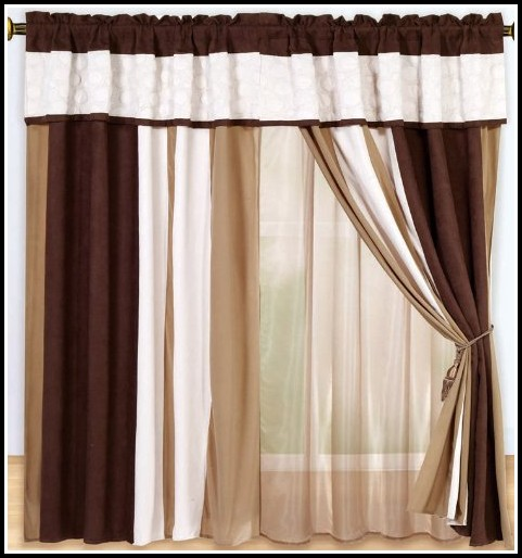 Brown Black And Tan Curtains