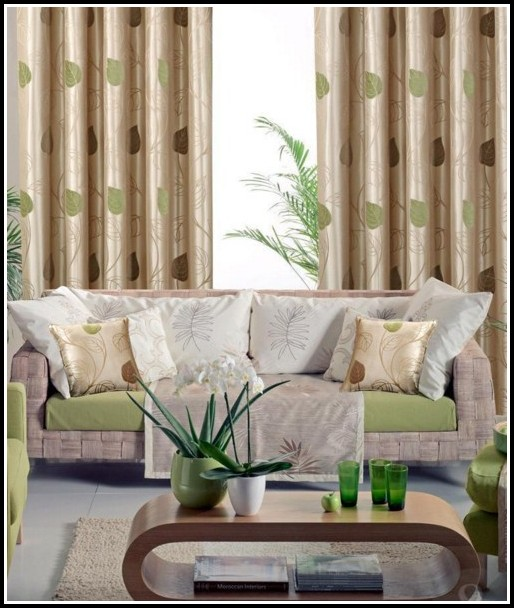 Brown Blue And Green Curtains