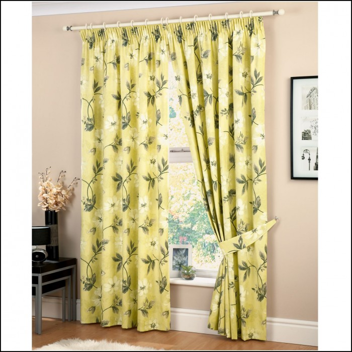 Brown Cream And Green Curtains