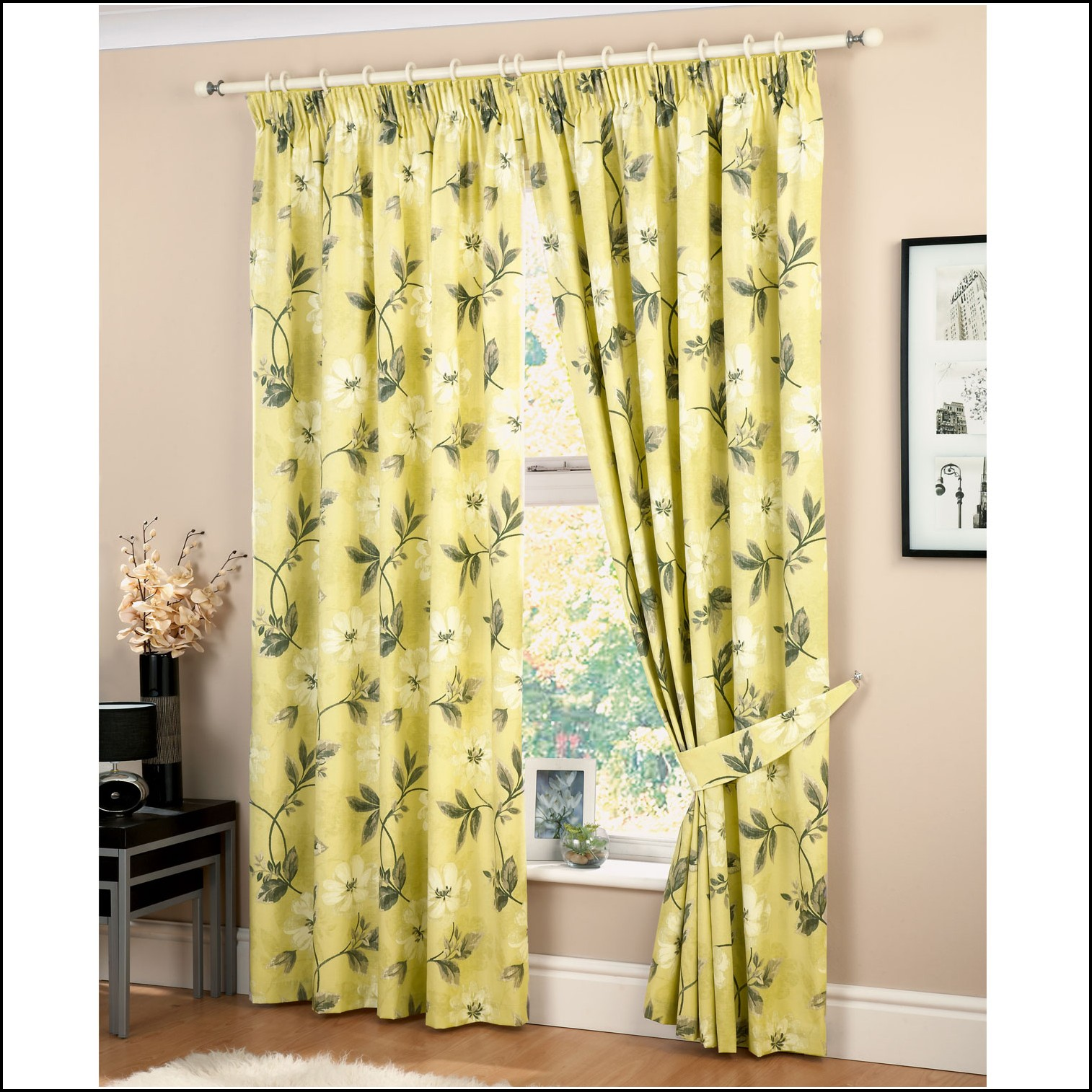 Brown Cream And Green Curtains Curtains Home Design