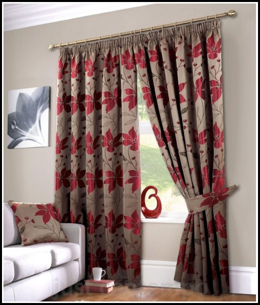 Brown Floral Curtains And Drapes