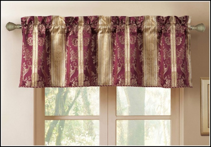 Burgundy And Gold Sheer Curtains