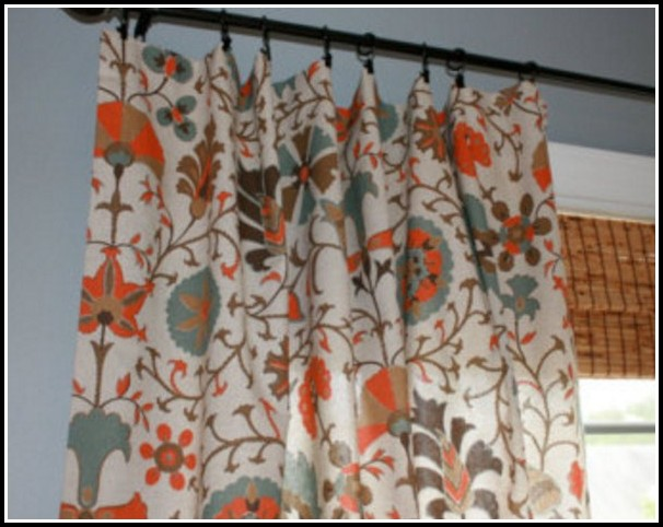 Breathtaking Orange And Teal Shower Curtain Contemporary