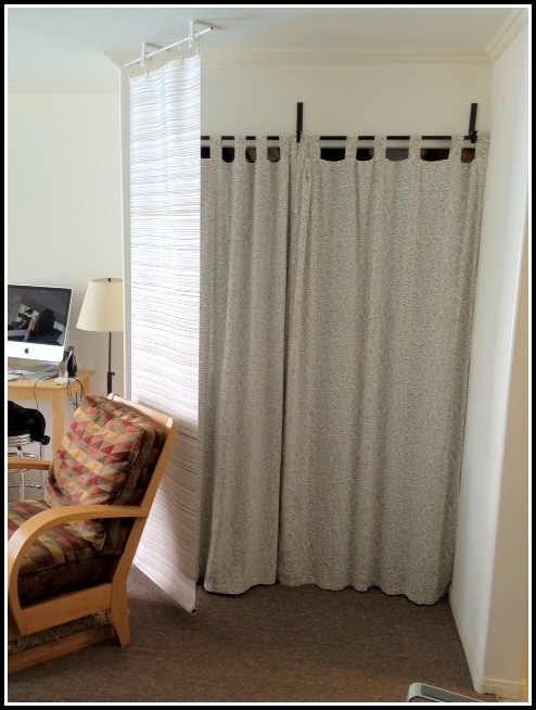 Ceiling Mounted Curtain Rods Diy