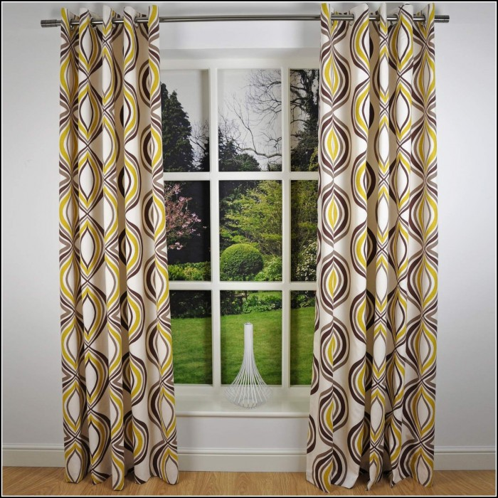 Chocolate Brown And Green Curtains