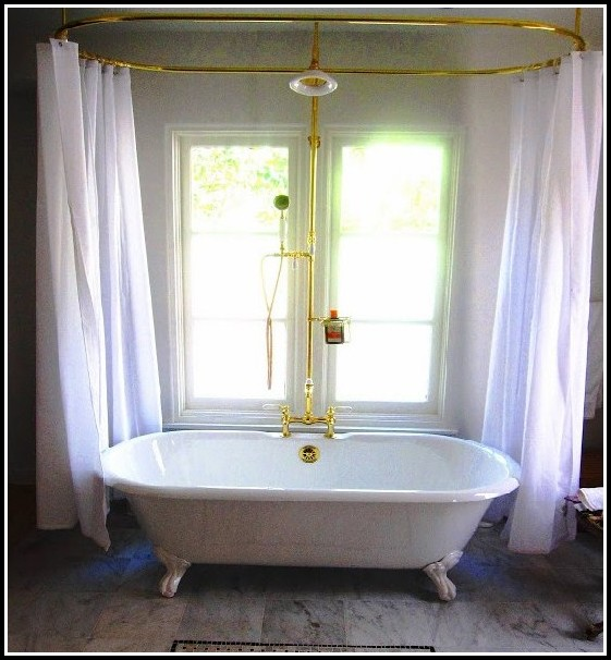 Clawfoot Tub Shower Curtain Rod Curtains Home Design Ideas Xxpyqk5pby31193