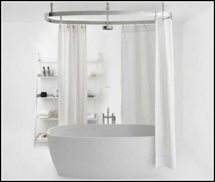 Clawfoot Tub Shower Curtain Rod Diy