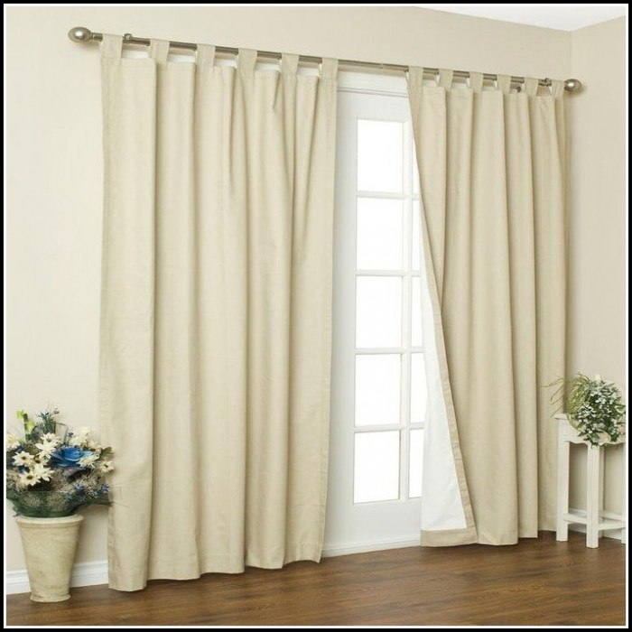 Cotton Canvas Tab Top Curtains