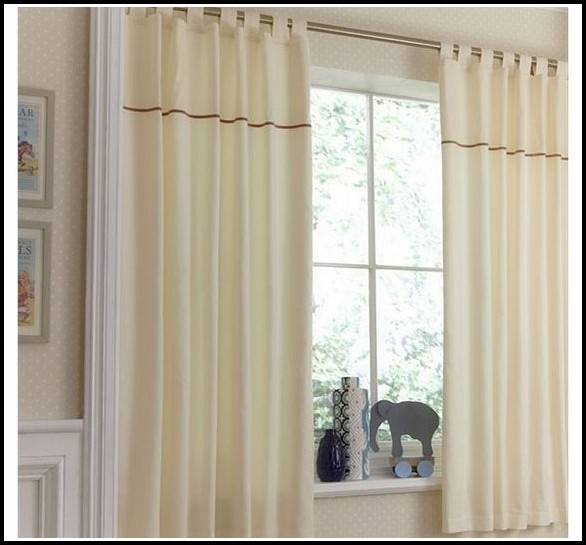 Cotton Voile Tab Top Curtains