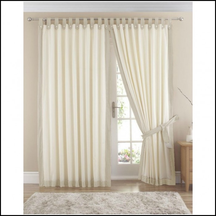 Cream Cotton Tab Top Curtains