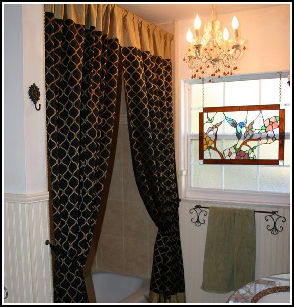 Cream Gold And Black Curtains