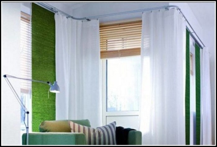 Curtain Rod Solutions For Corner Windows Curtains Home