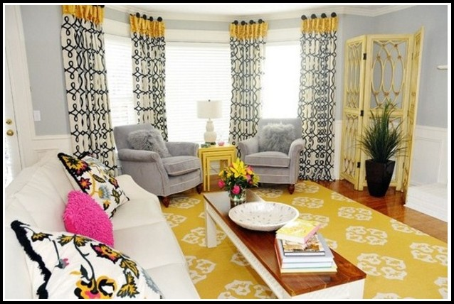 Mustard Yellow And Black Curtains Curtains Home Design
