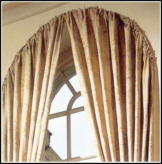 Curved Curtain Rod For Bay Window Curtains Home Design