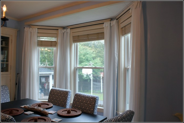 Double Curtain Rod Bay Window