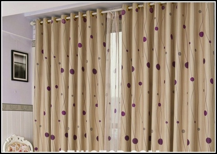 Eclipse Purple Polka Dot Curtains