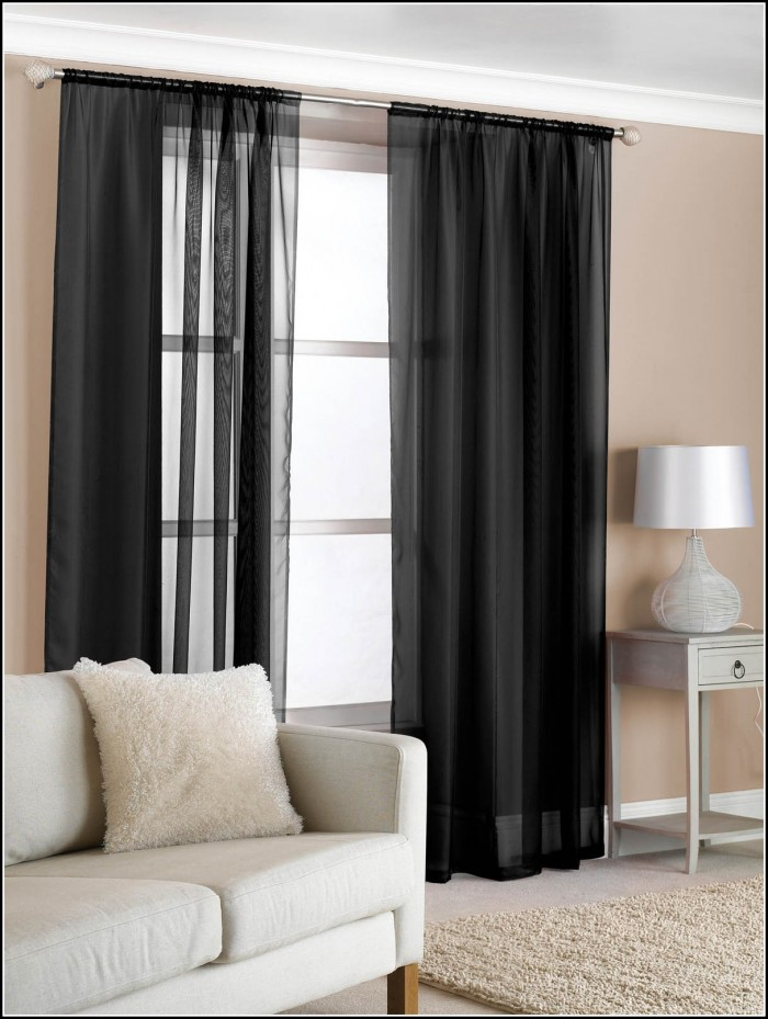 Extra Wide Sheer Voile Curtains