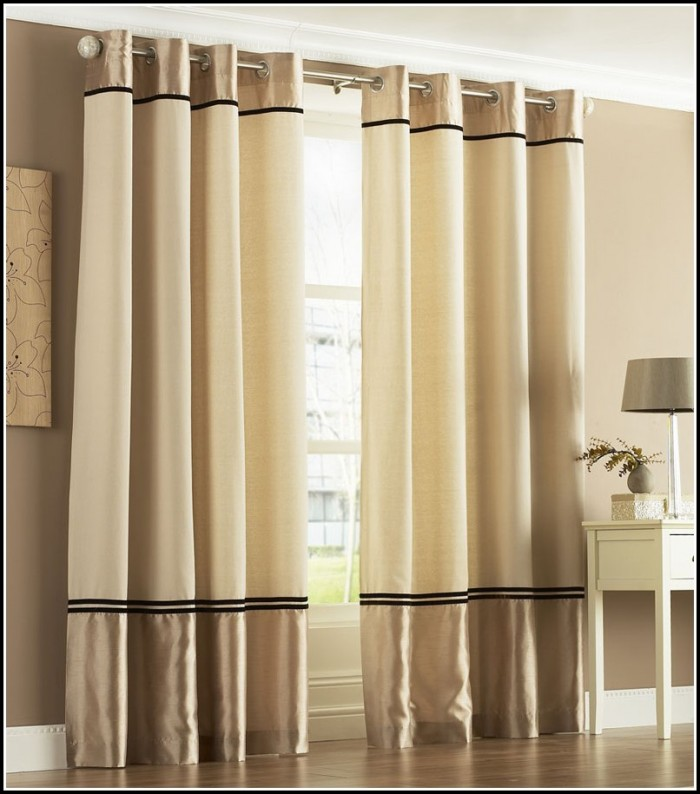 Gold And Black Eyelet Curtains