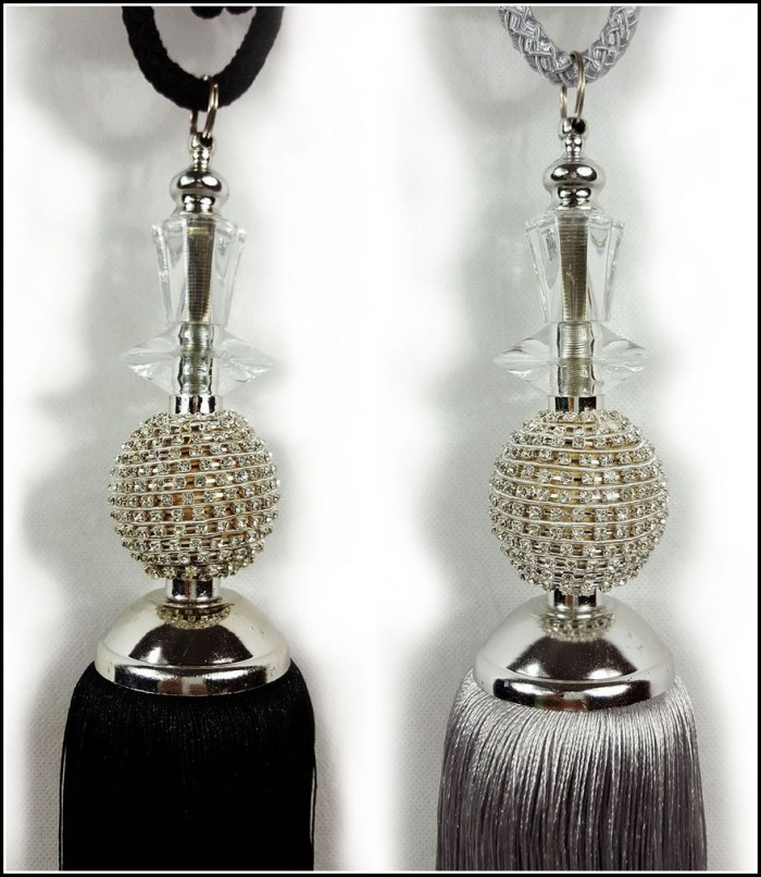 Gold Tassel Curtain Tie Backs