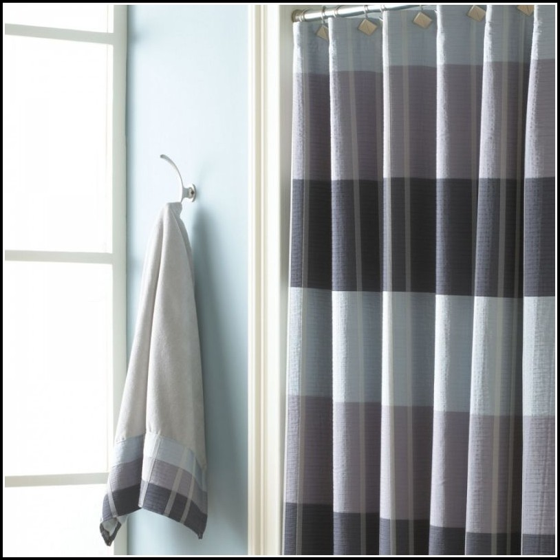 Gray And Black Shower Curtains Curtains Home Design