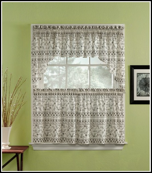 Gray And Black Window Curtains