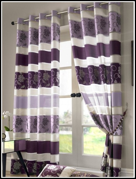 Gray And Purple Shower Curtains