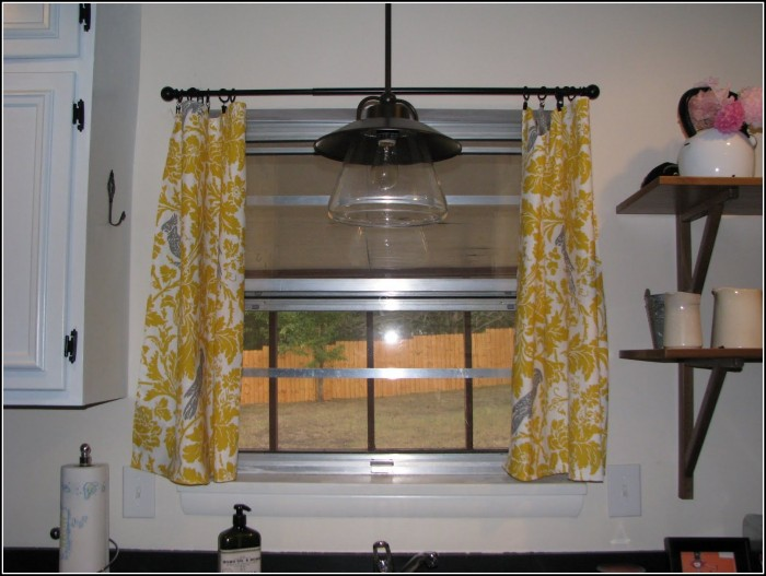 Gray And Yellow Kitchen Curtains