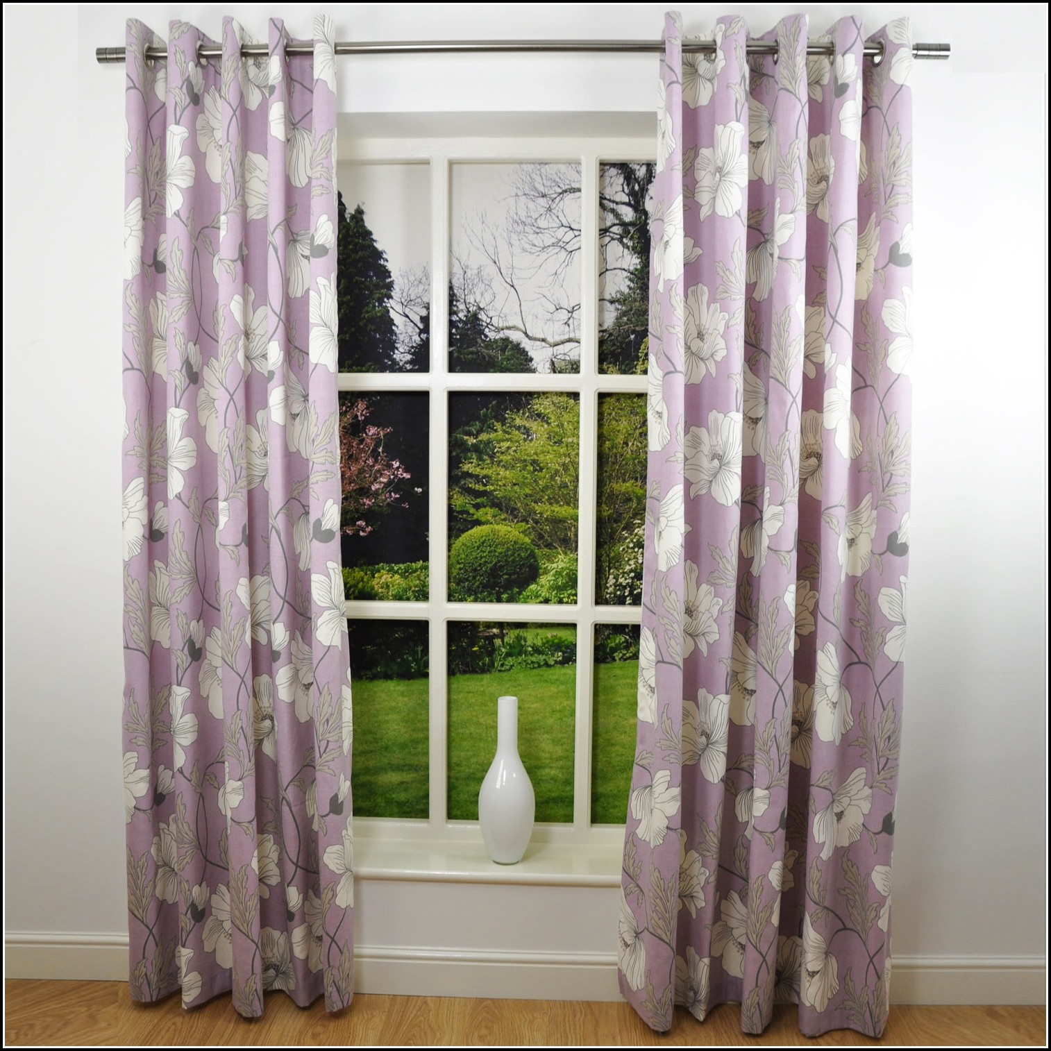 Gray Walls Purple Curtains Curtains Home Design Ideas