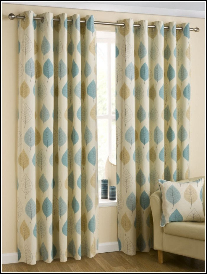 Green And Blue Kitchen Curtains