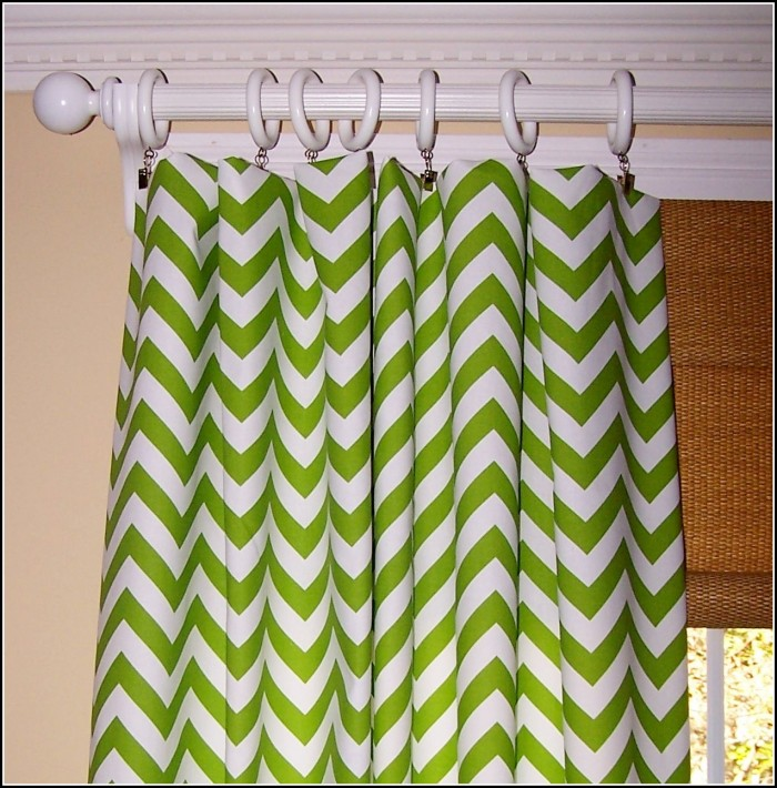 Green And White Shower Curtains