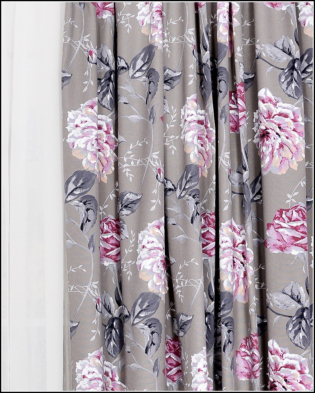 Grey And Pink Shower Curtains