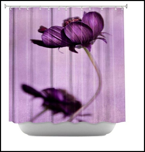 Grey And Purple Shower Curtains