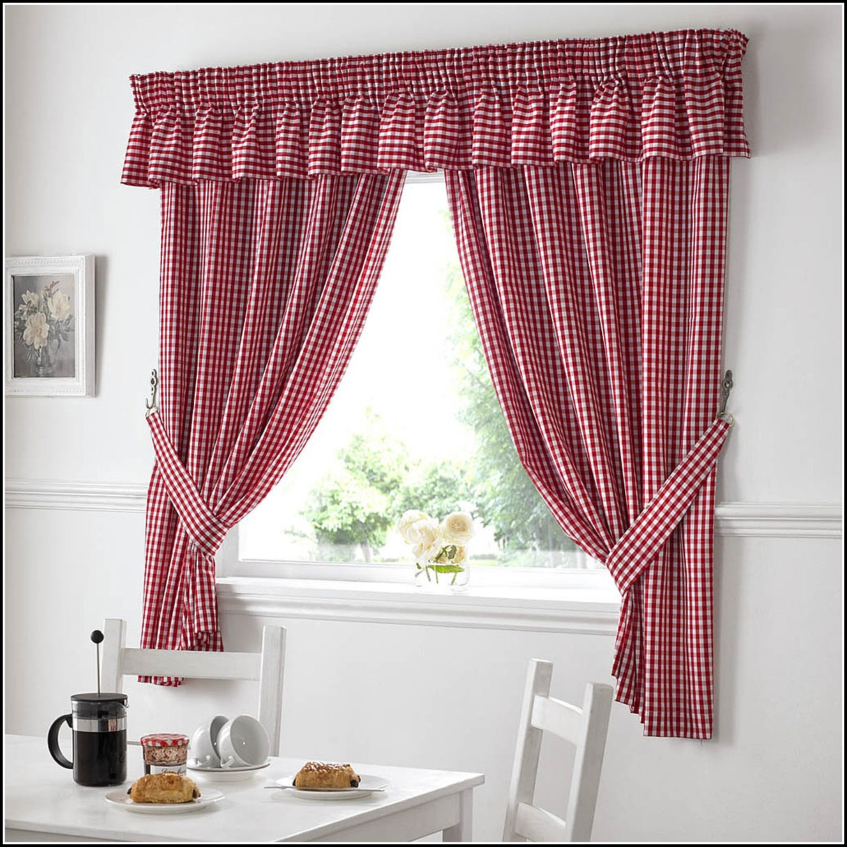 Grey And Red Patterned Curtains Curtains Home Design