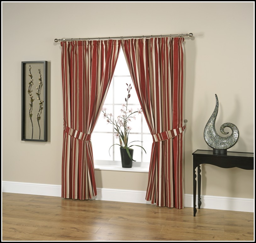 Grey And Red Striped Curtains Download Page Home Design
