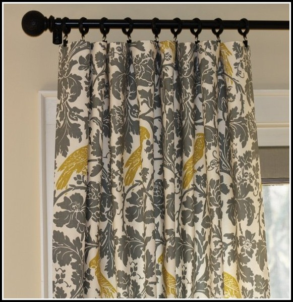 Grey And Yellow Curtain Panels