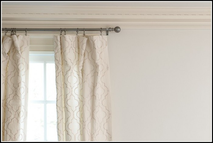 Hang Curtain Rod From Drop Ceiling Curtains Home