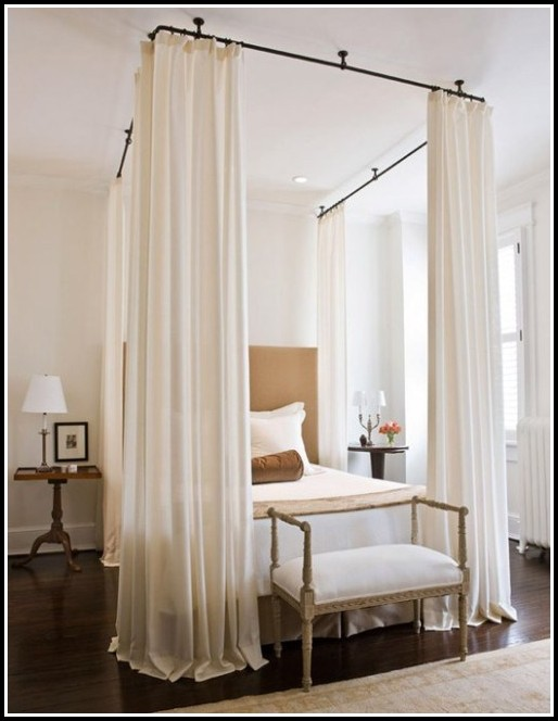 designs of hanging ceiling from large how rod size curtains without hang the for over with sheer a to bed charming