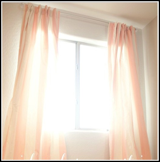 Hot Pink And White Striped Curtains