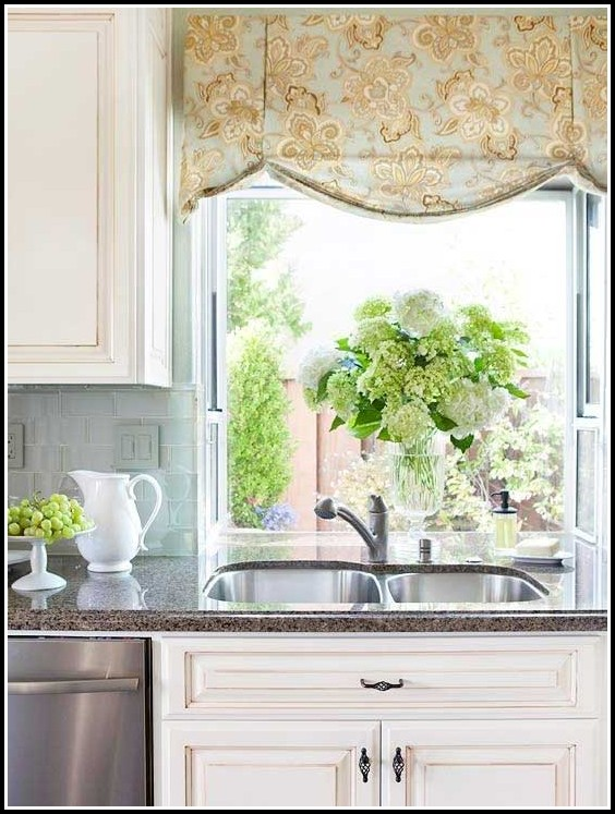 Kitchen Curtains And Valances Modern