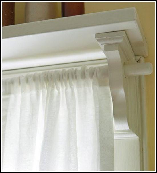 White Wood Curtain Rod Brackets Curtains Home Design Ideas