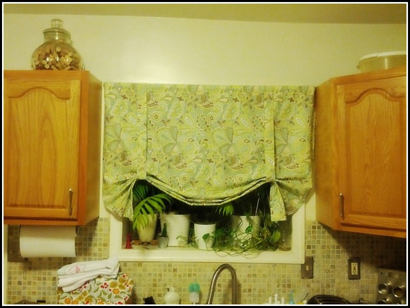 Lime Green Gingham Kitchen Curtains