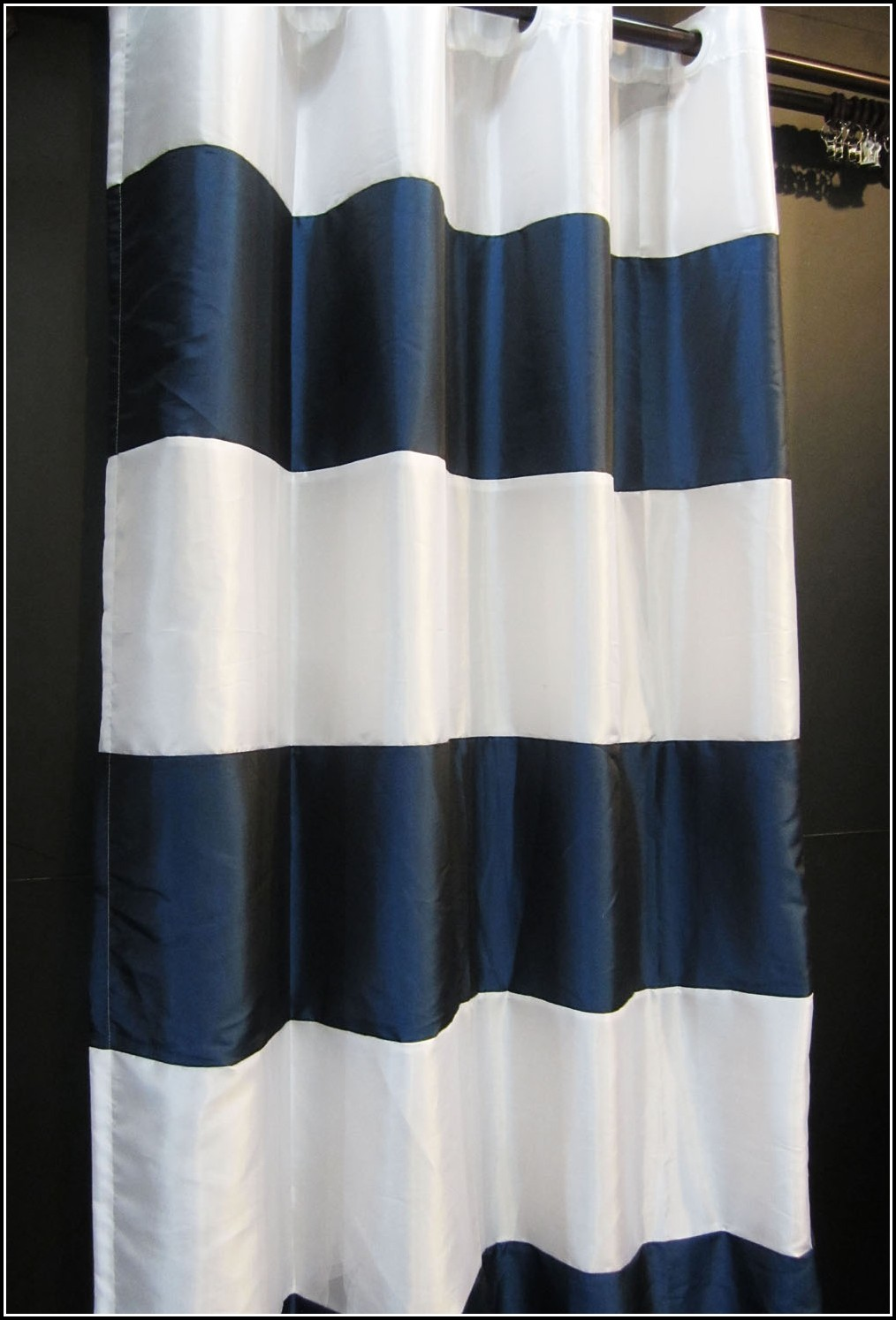 Navy And White Curtain Panels