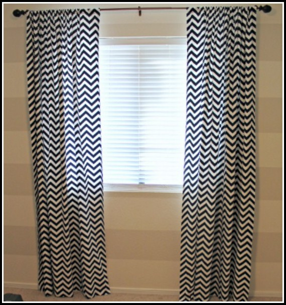 Navy And White Shower Curtains