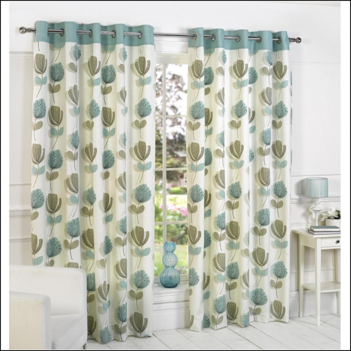 Navy Blue And Green Curtains